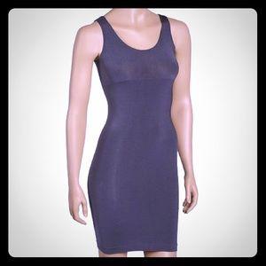 FIT black shapewear bodycon shaper slip dress LBD